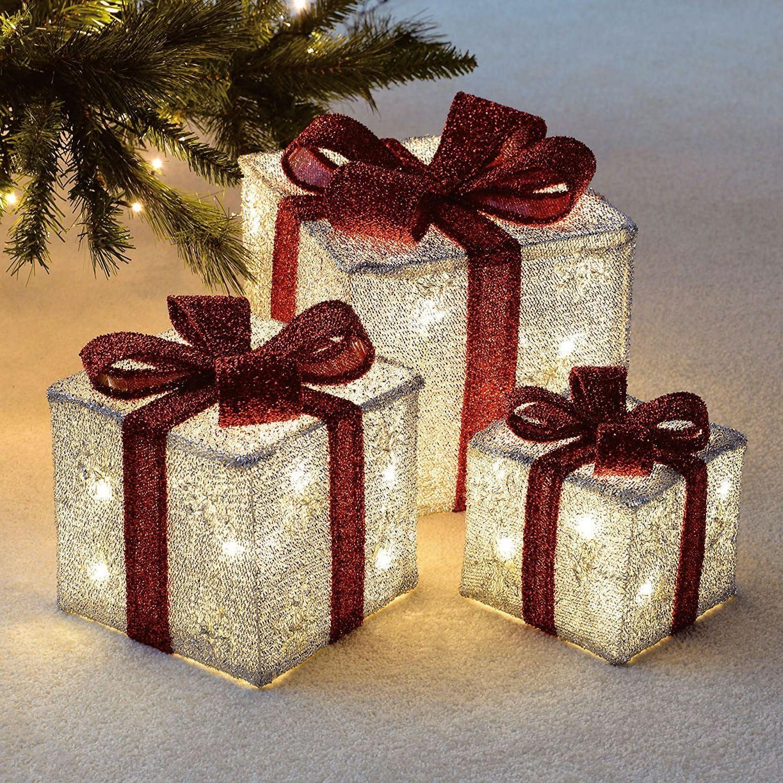 Déco de Noël GiFi: cadeau lumineux 3D.