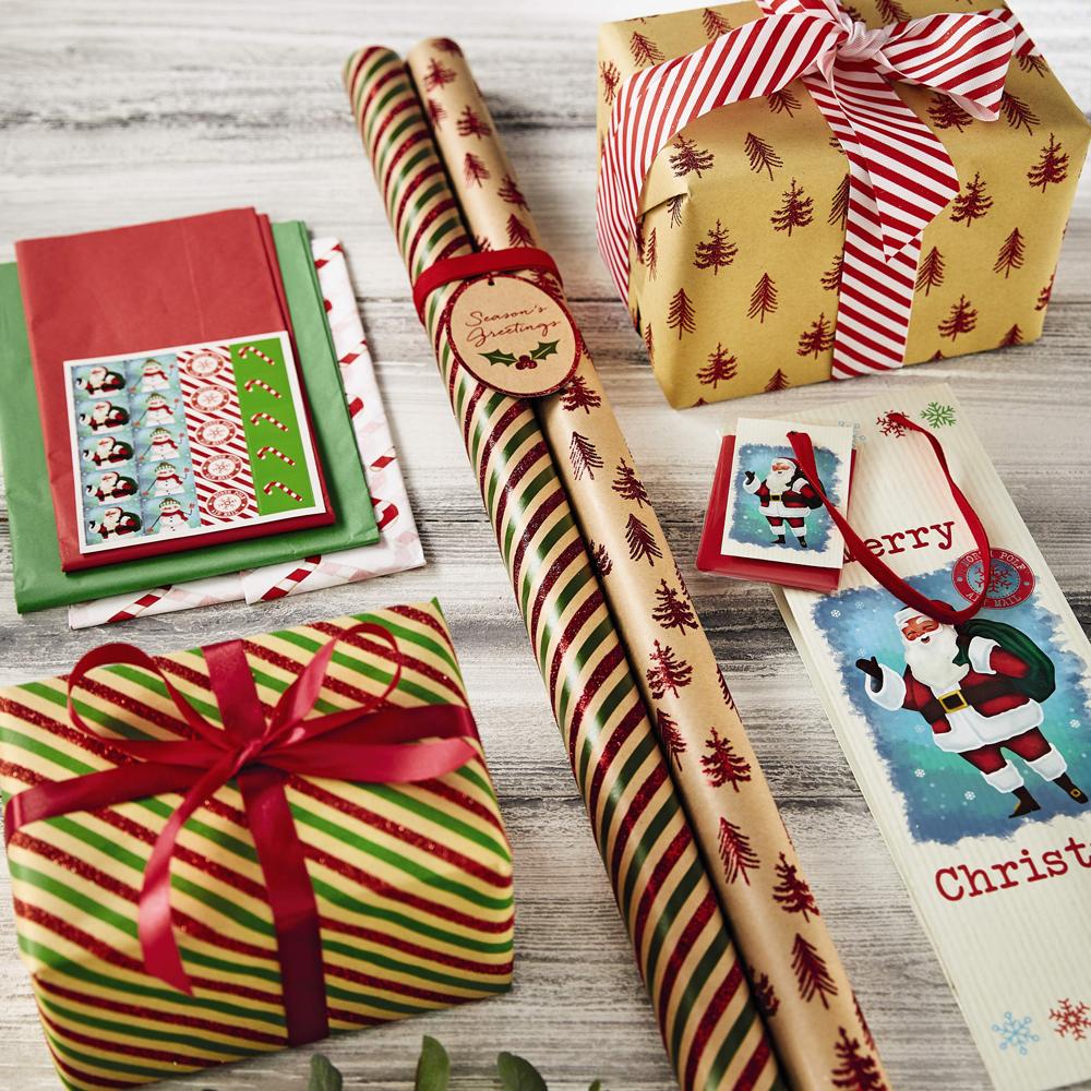 Papier cadeau de Noël.