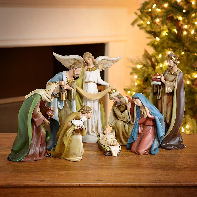 Déco de Noël GiFi: santons de la nativité.