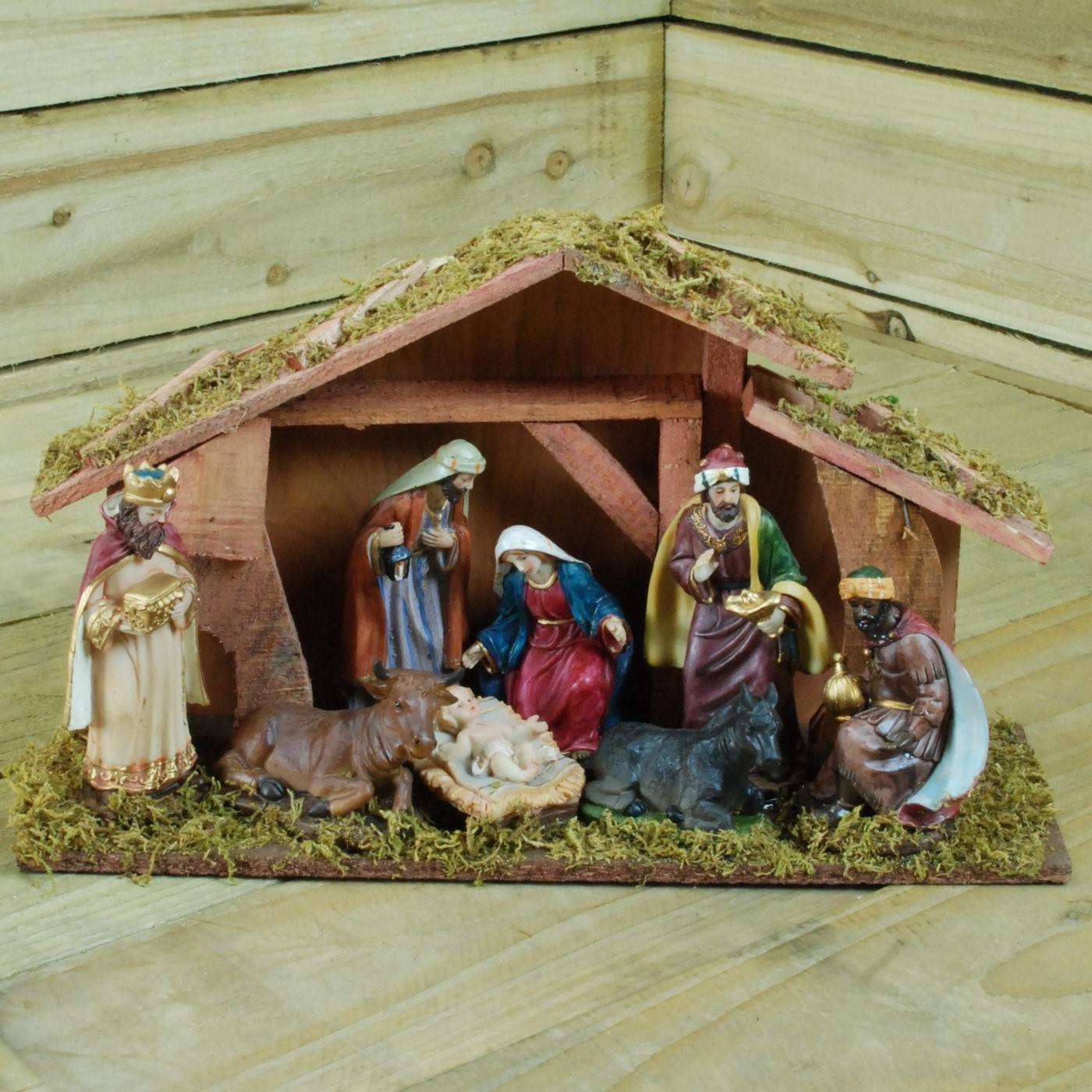 Crèche de Noël et santons.