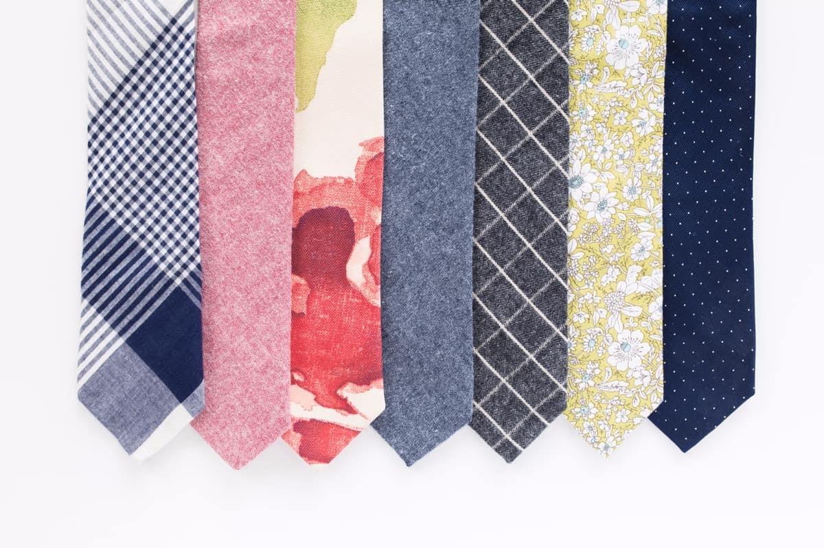 Cravates modernes.