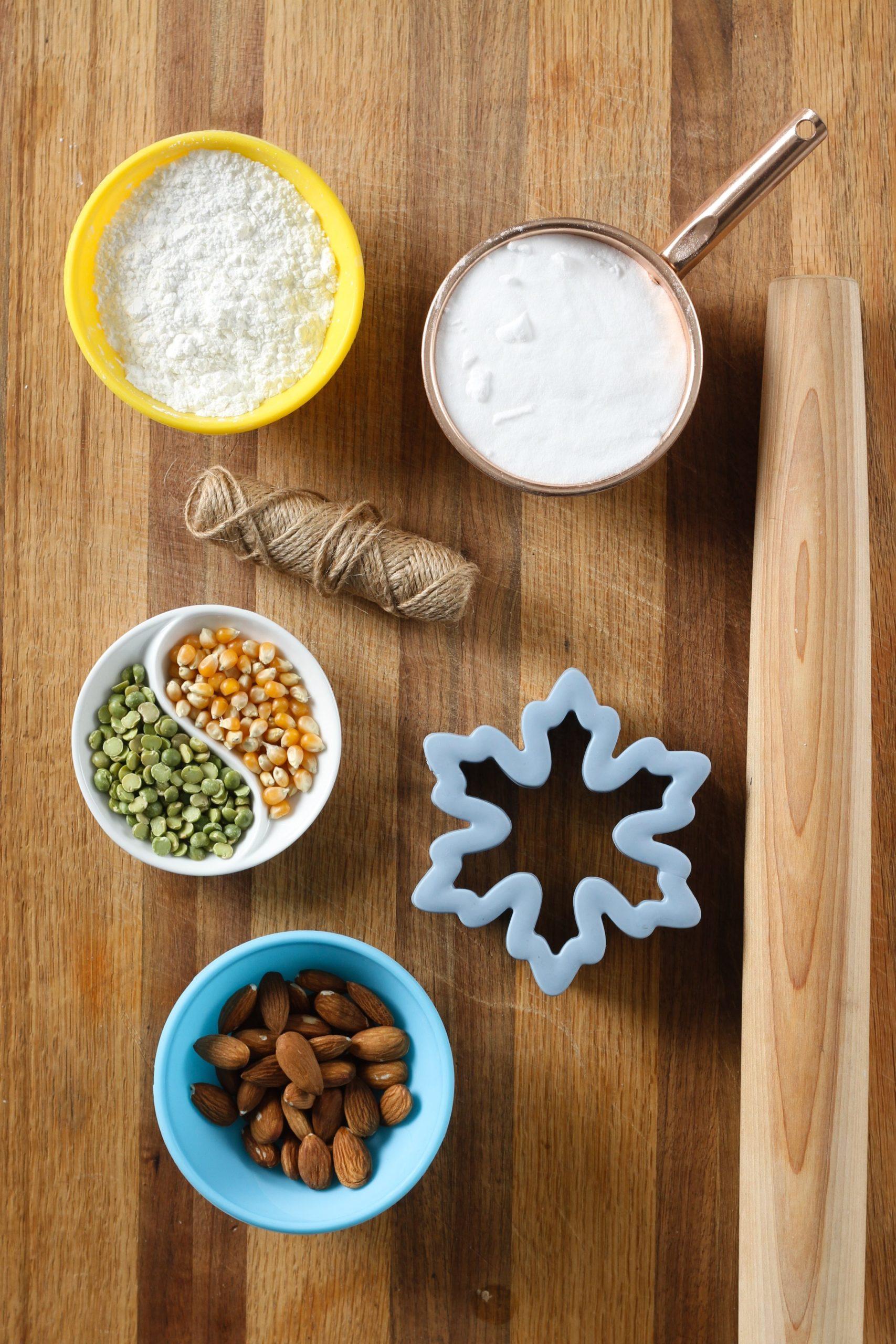 C'est tout ce dont vous avez besoin pour faire de belles décorations en pâte à sel.