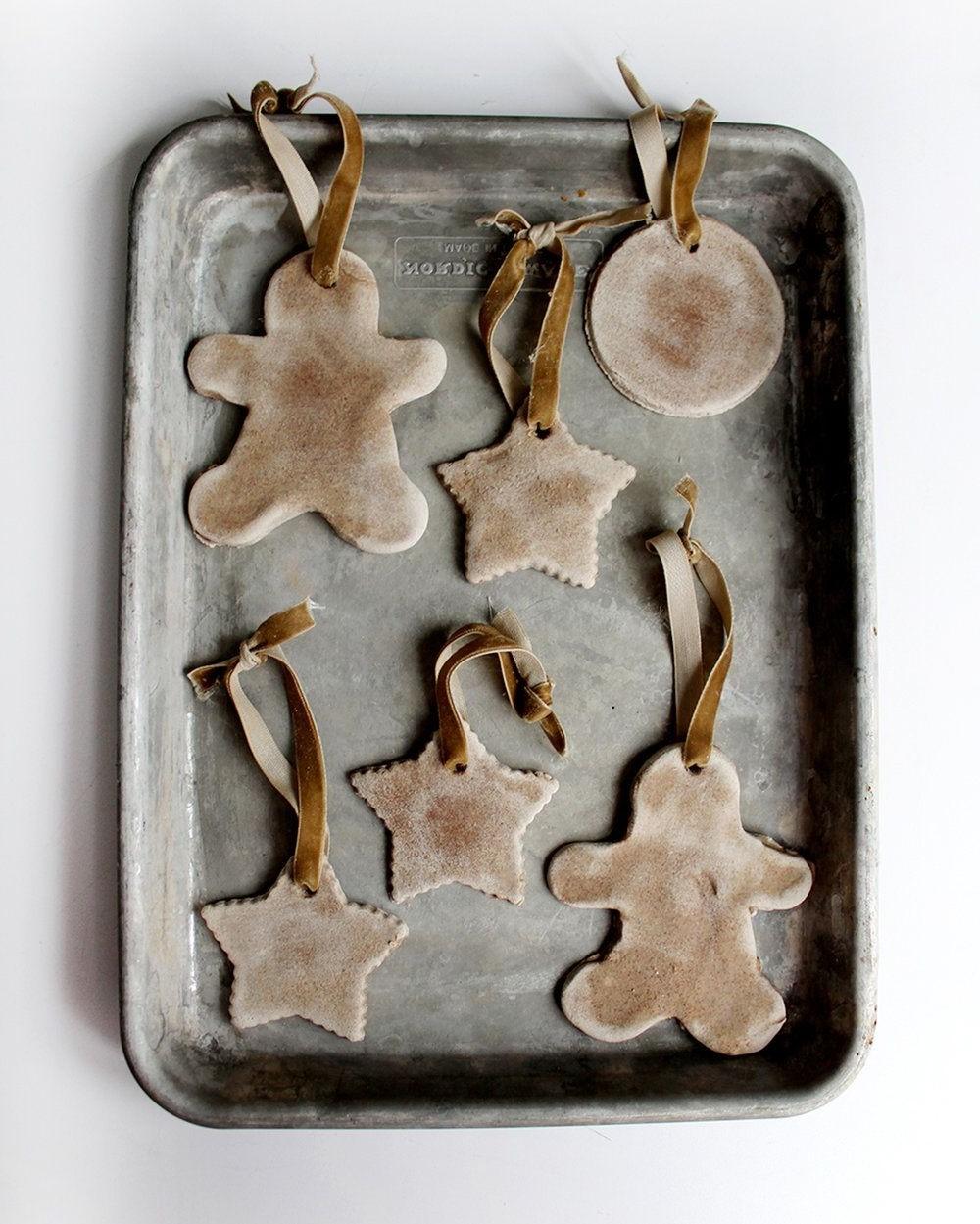 Décorations en pâte à sel DIY.