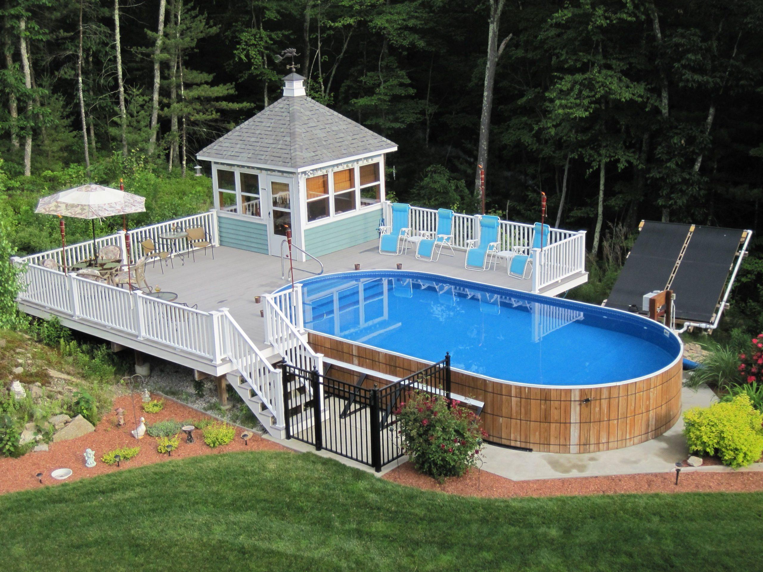 Les grands chantiers peuvent naturellement accueillir une piscine plus large.