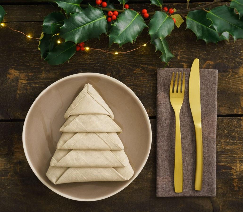 Décoration de table pour Noël.