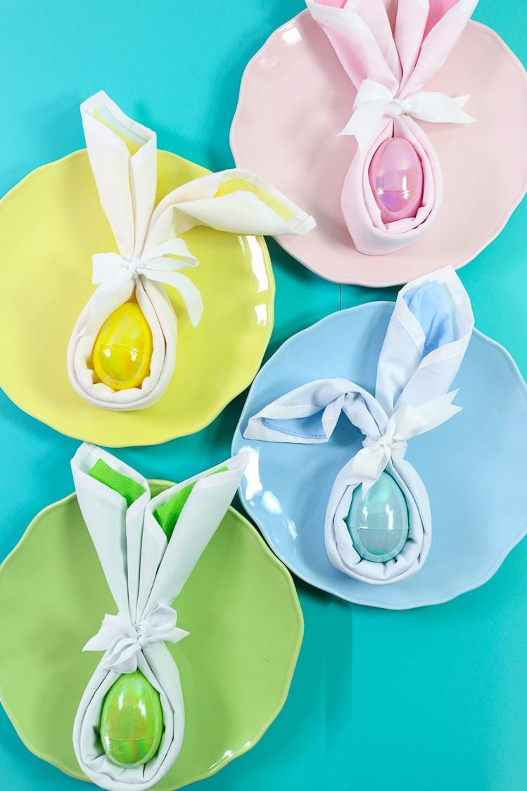 Décoration de table pour Pâques.
