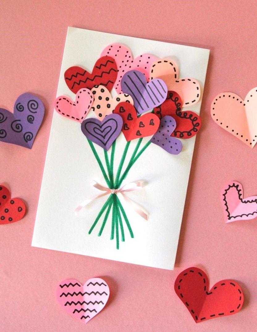 Carte de Saint Valentin DIY.