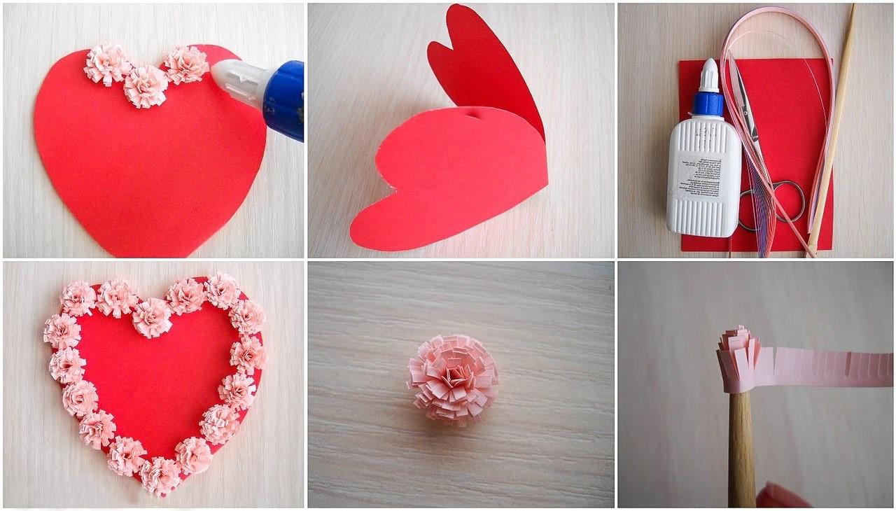 Carte en forme de coeur.