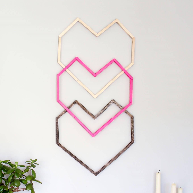 Activités de la Saint-Valentin: art mural facile.