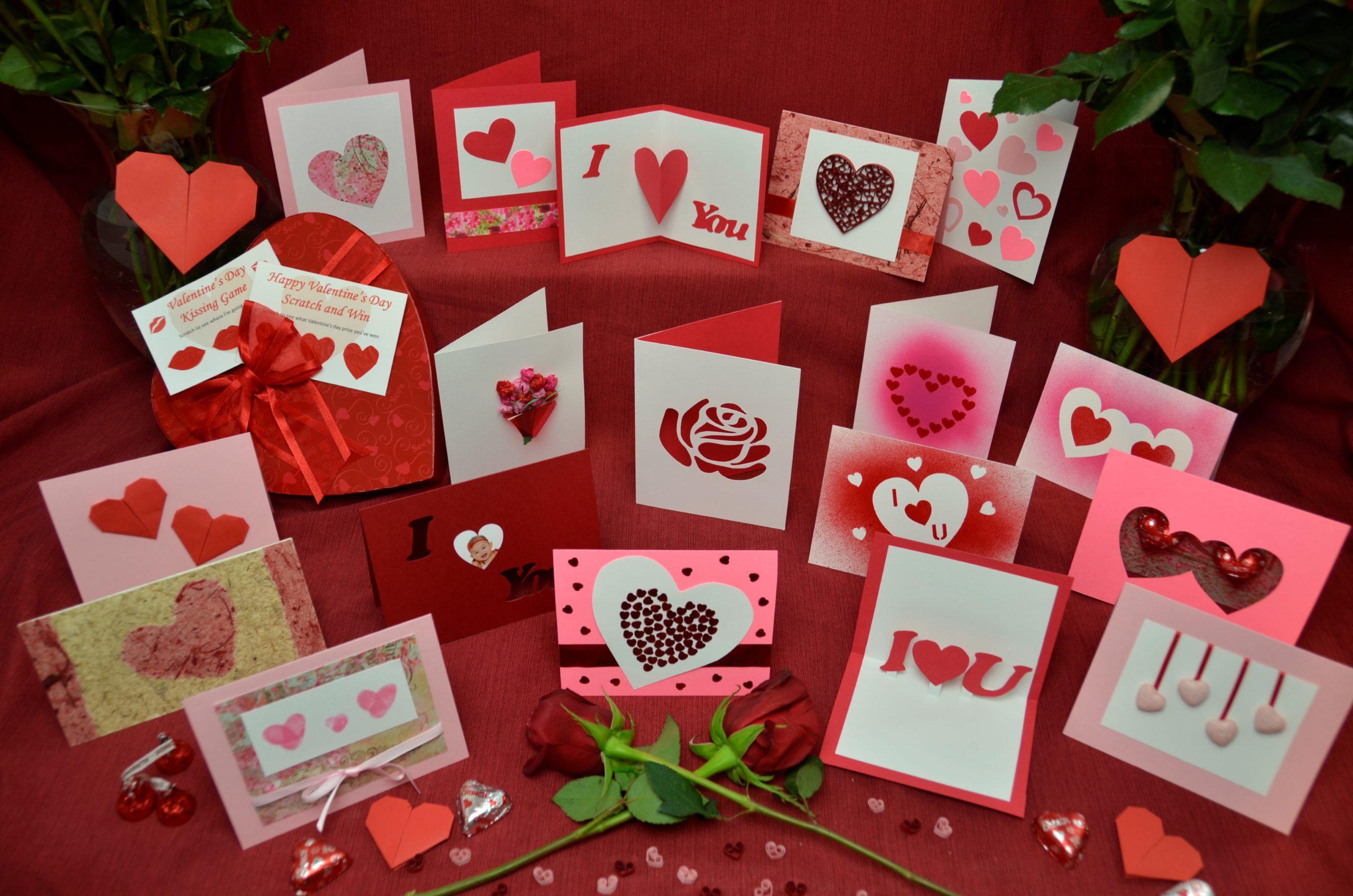 Cartes romantiques DIY.