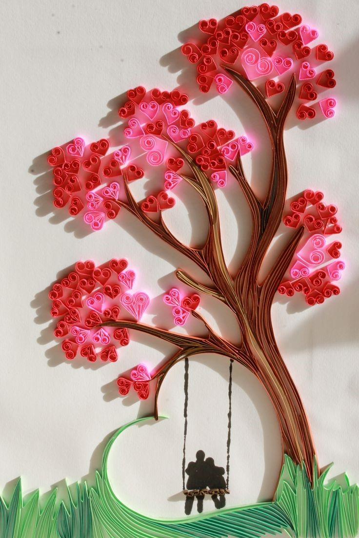 Activités de la Saint-Valentin: carte romantique 3D.