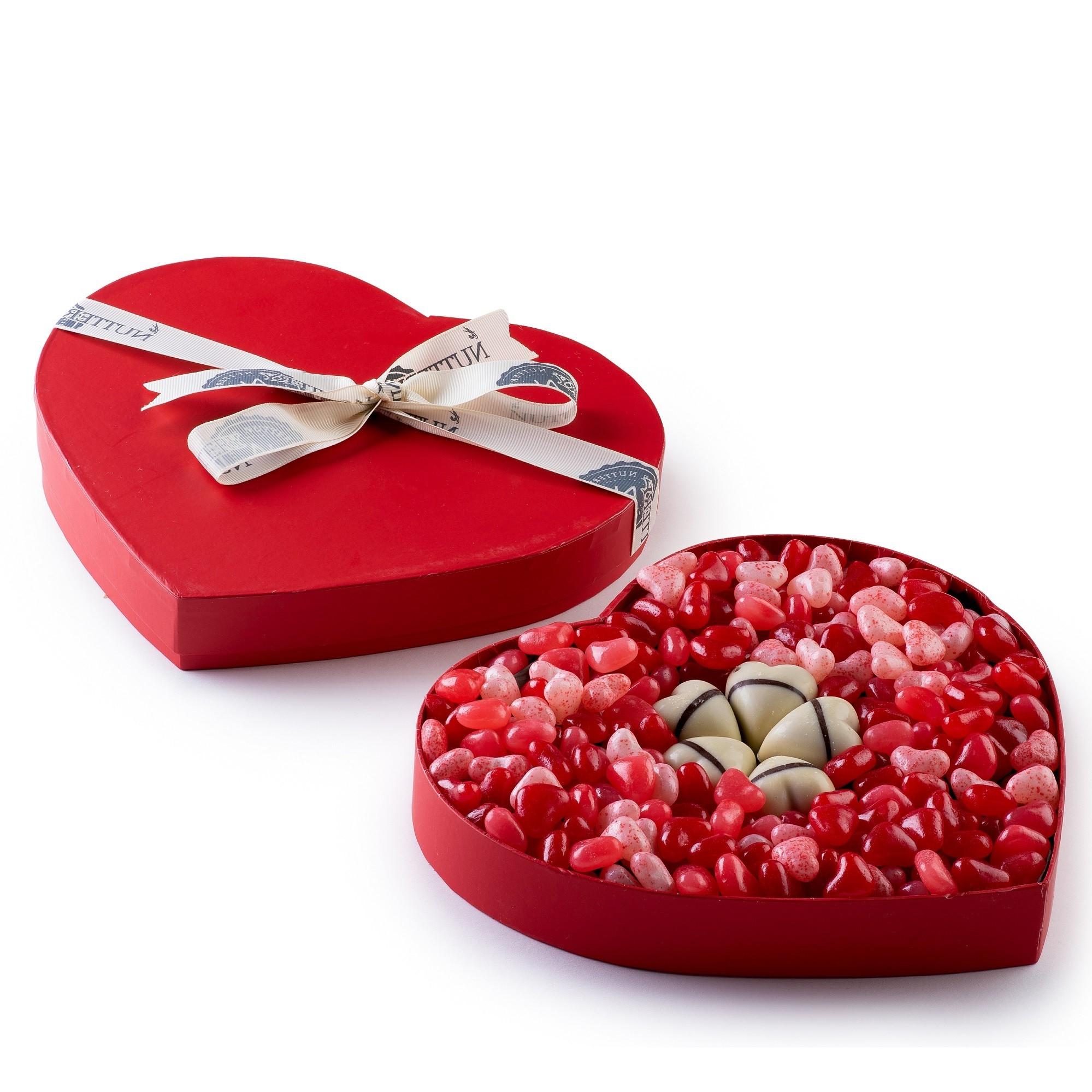 Boîte en forme de coeur.