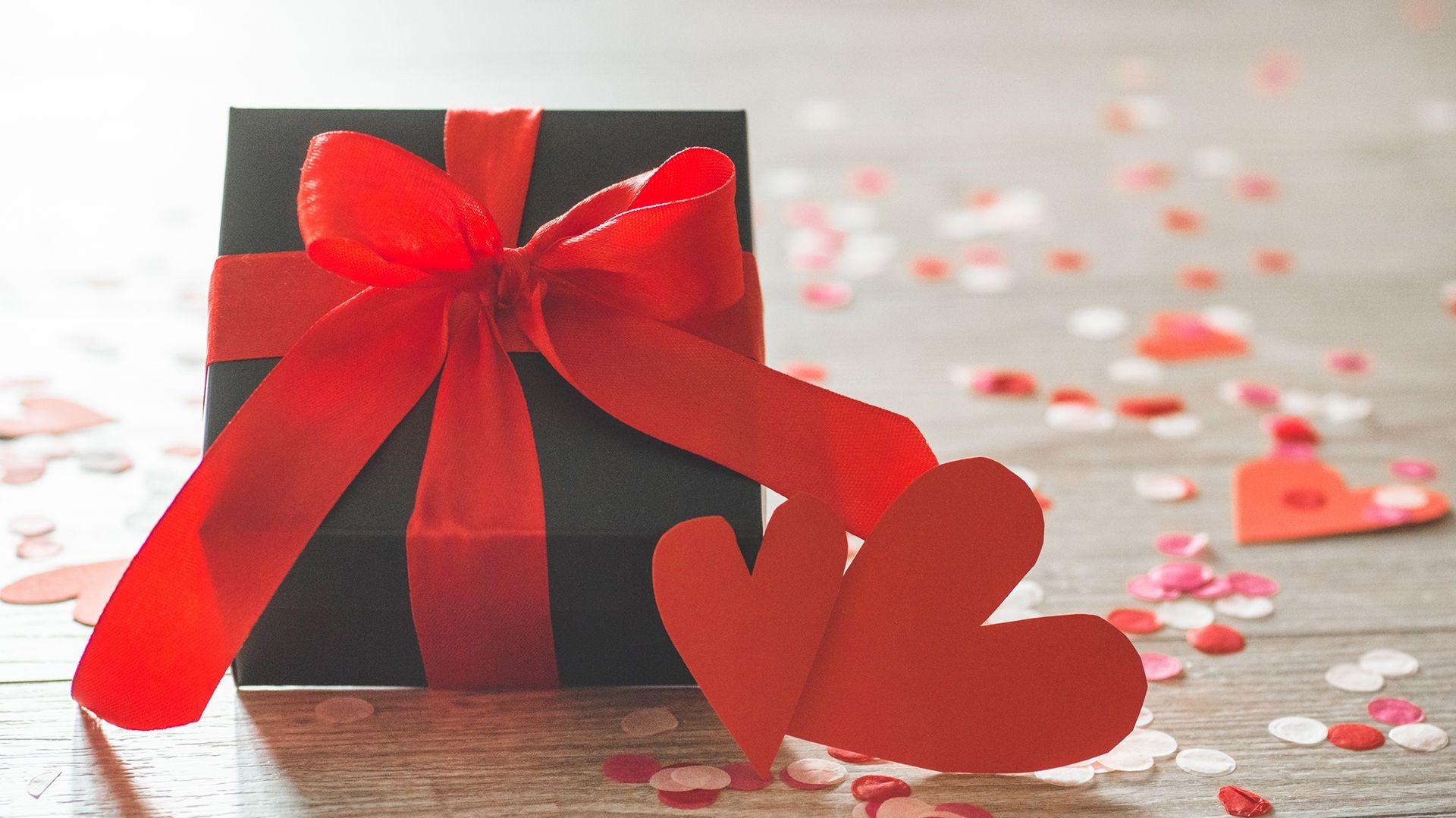 Boîte cadeau pour la Saint-Valentin.