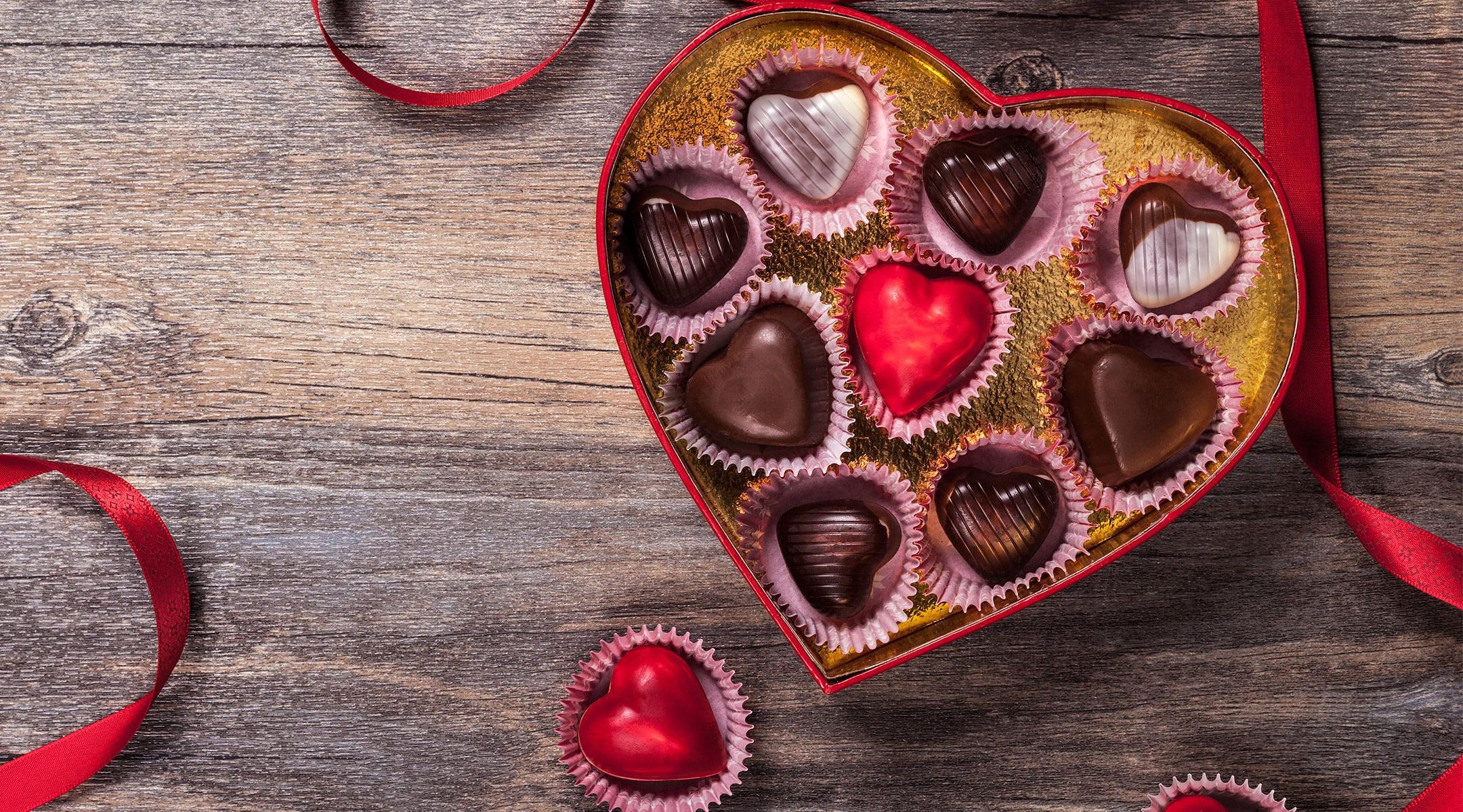 Chocolat comme cadeau pour votre bien-aimé.