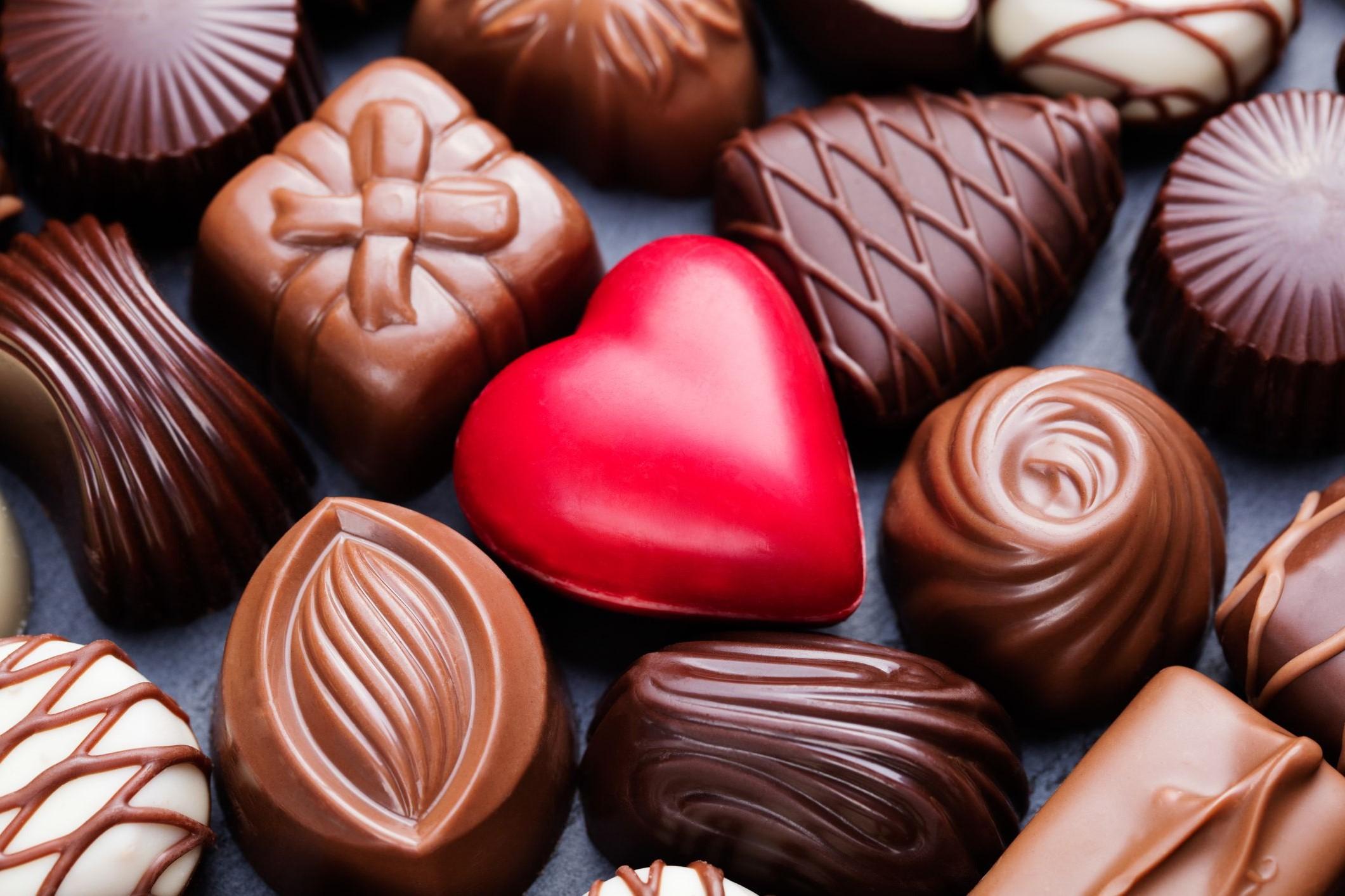 Bonbons au chocolat spéciaux.