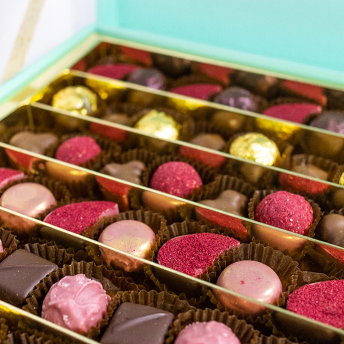 Délicieux bonbons au chocolat.