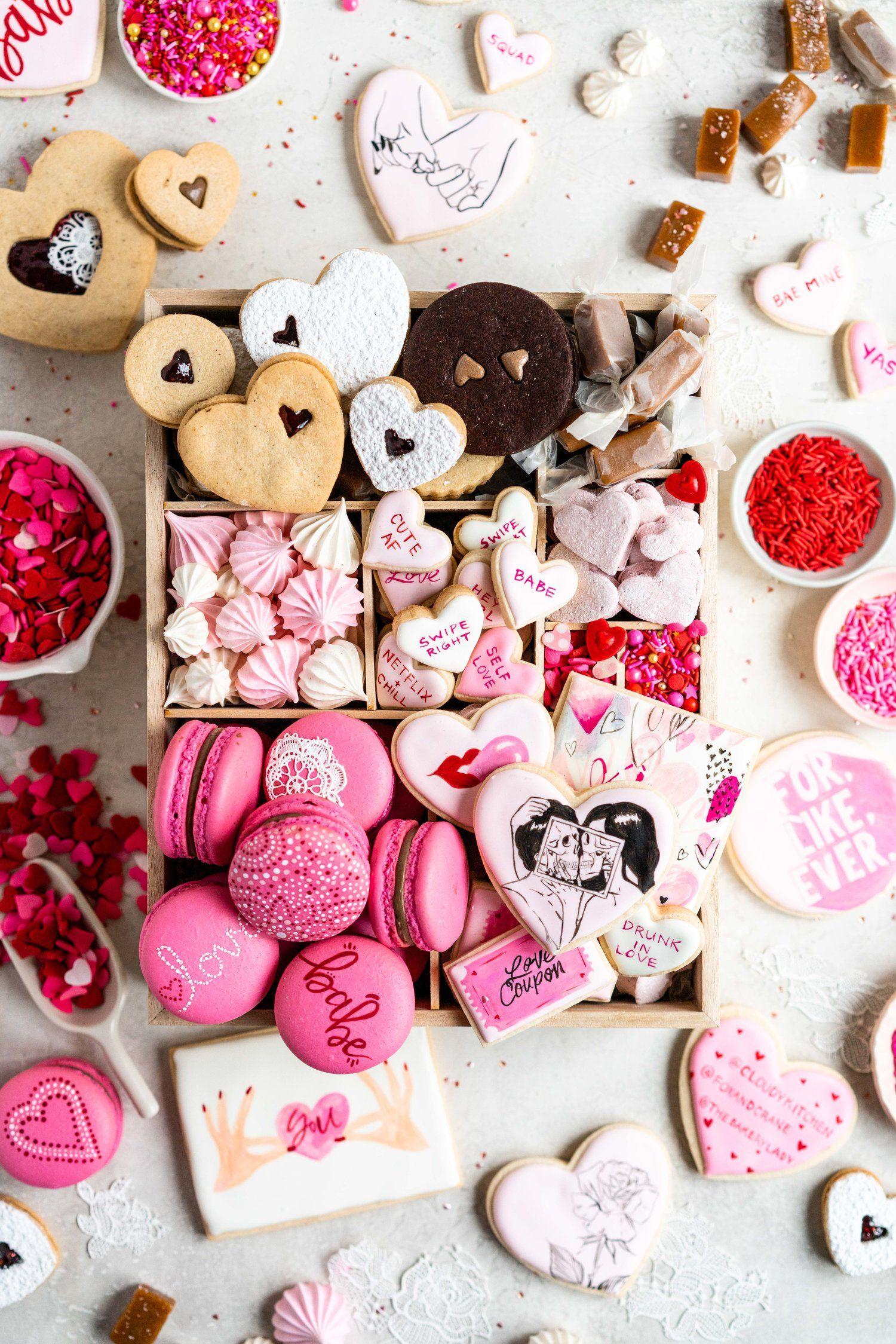 Surprise sucré pour la fête des amoureux.