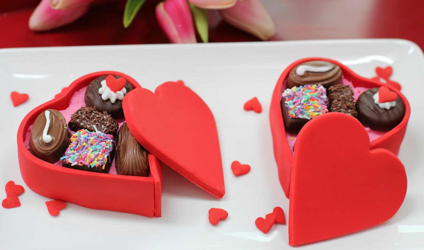 Boîte de chocolat pour la Saint-Valentin.
