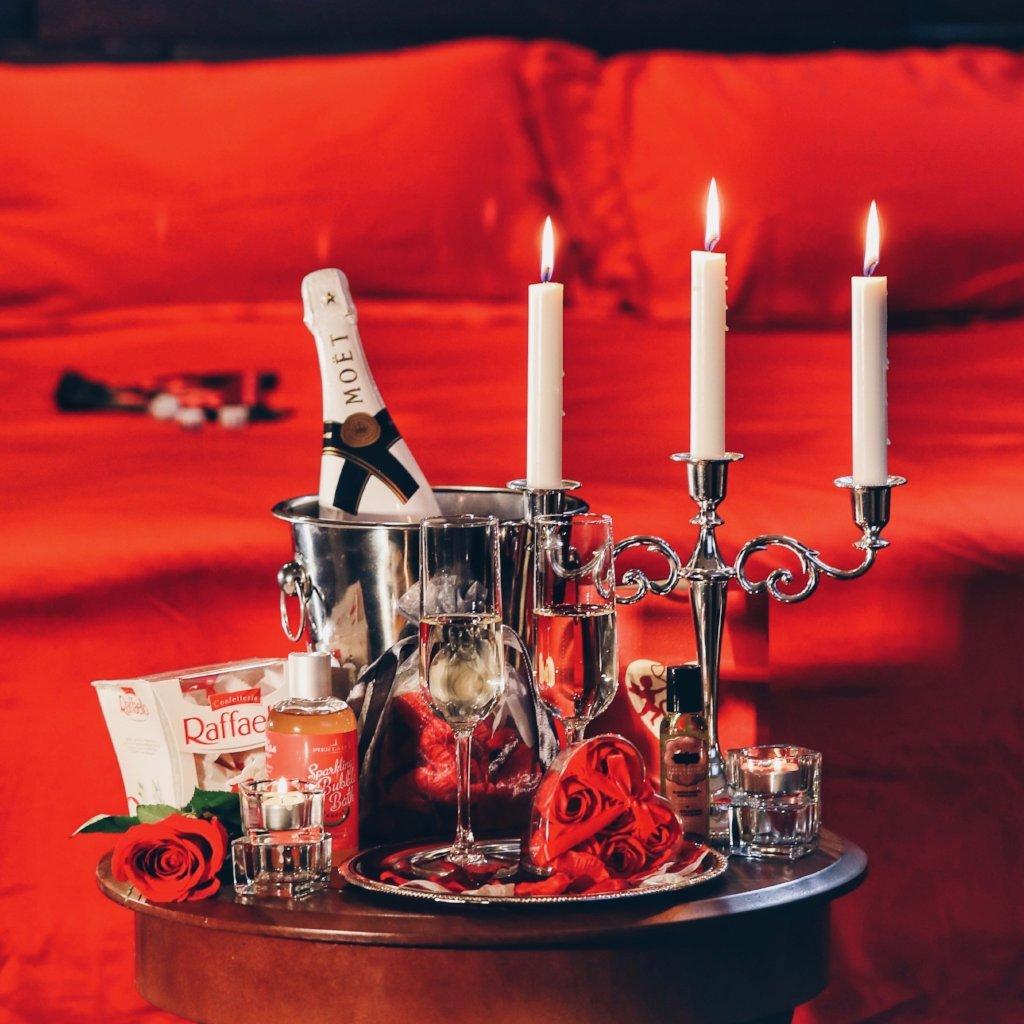 Atmosphère romantique pour la Saint-Valentin.