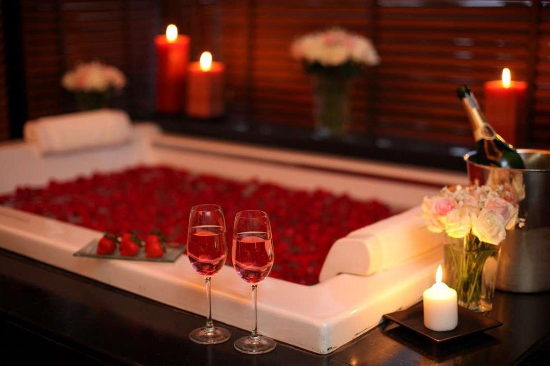 Salle de bain romantique.