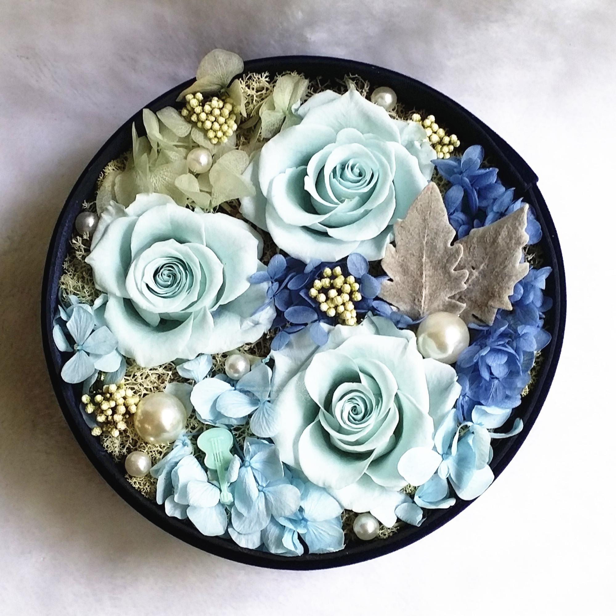 Des roses bleues pour votre bien-aimé.