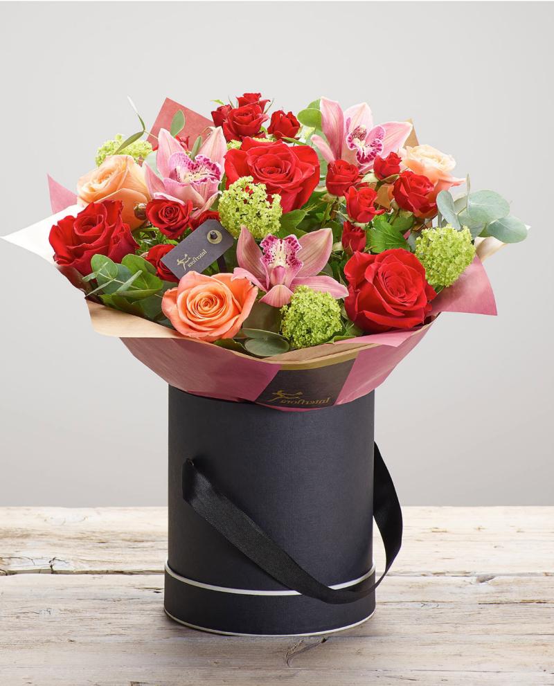Bouquet de fleurs pour la fête des amoureux.