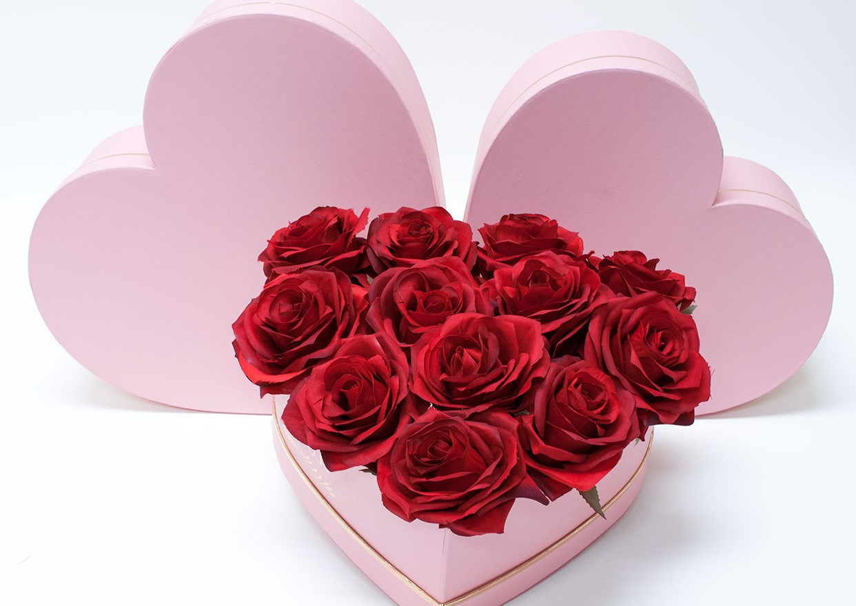 Roses romantiques.