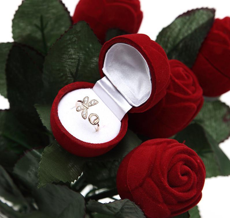Un boîte à bagues Saint Valentin