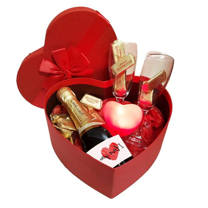 Un box de célébration de la Saint-Valentin