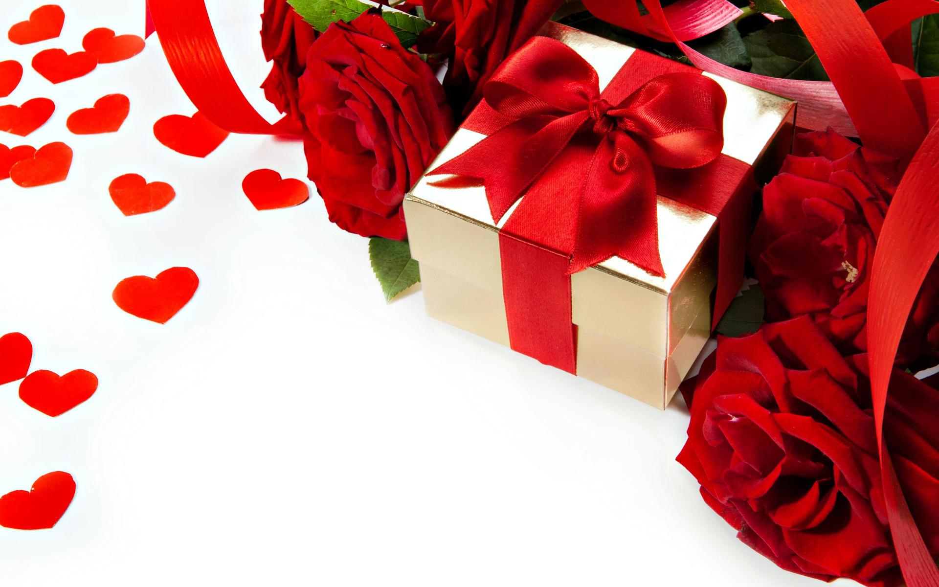 Cadeau pour un être cher dans une boîte simple