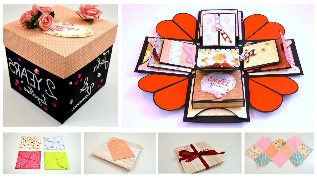 Une boîte faite à la main avec des souvenirs de la Saint-Valentin