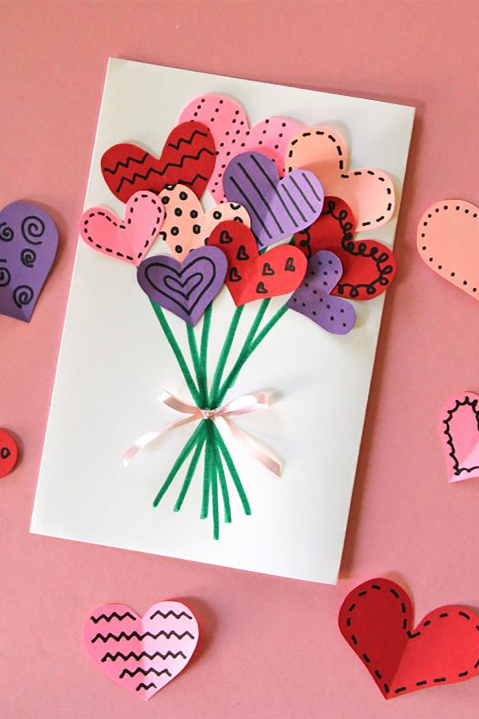 Carte DIY de Saint-Valentin pour lui que vous pouvez réaliser en quelques minutes.