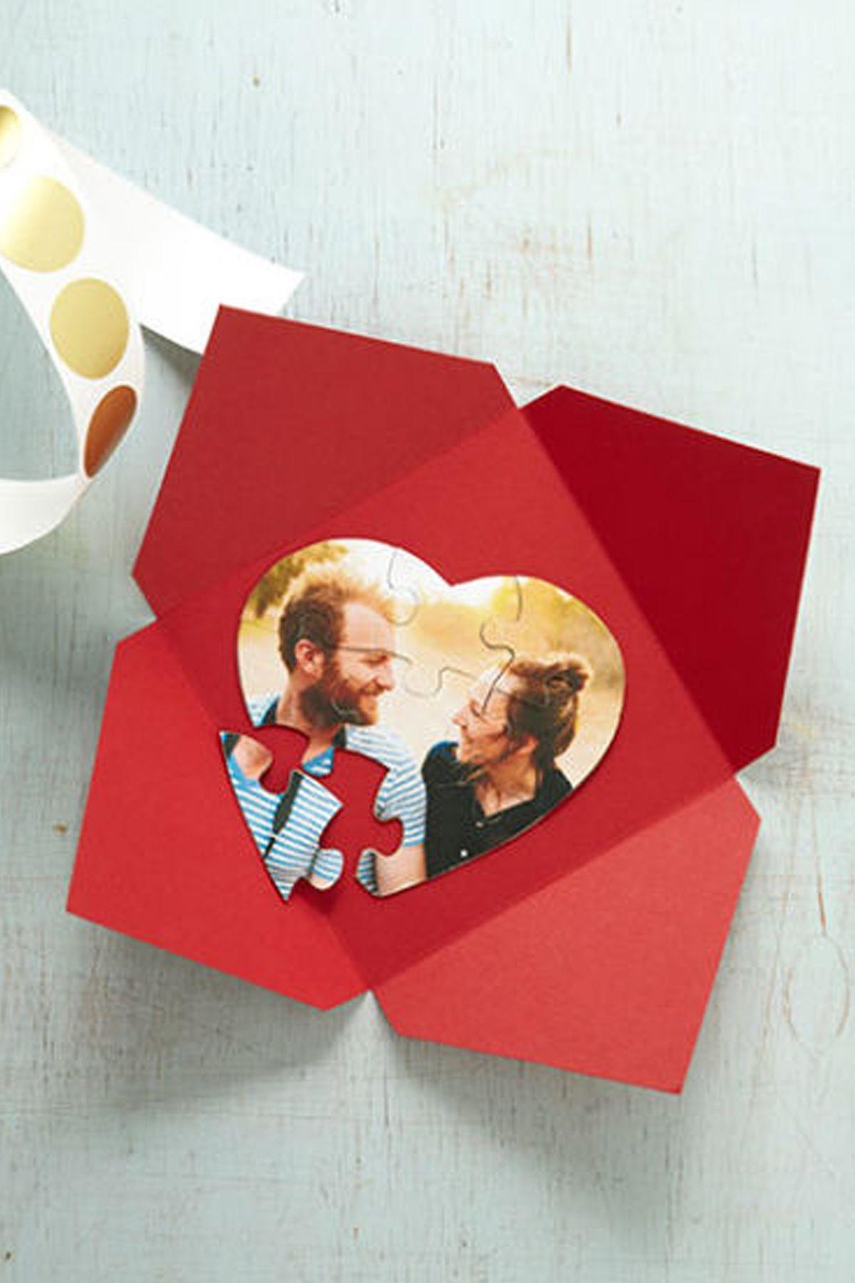 Carte romantique personnalisée avec votre photo.