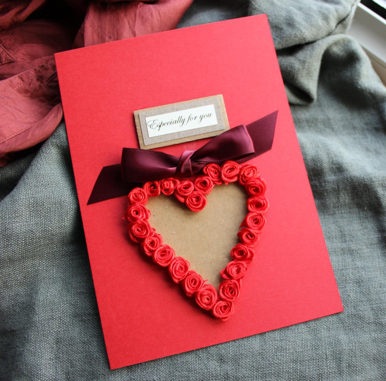 Donnez cette carte avec un coeur 3D à votre bien-aimé.
