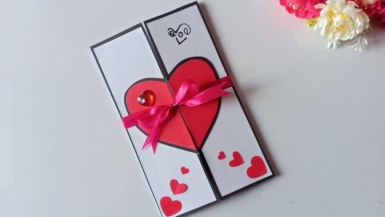 Carte DIY pour la fête des amoureux.