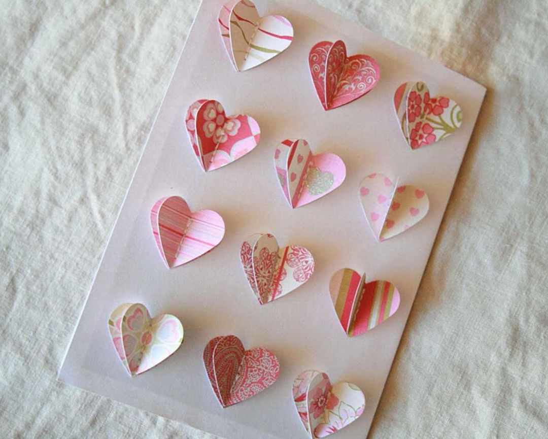 Carte romantique 3D.