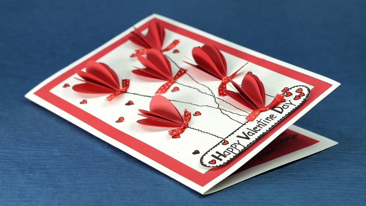 Carte 3D romantique.