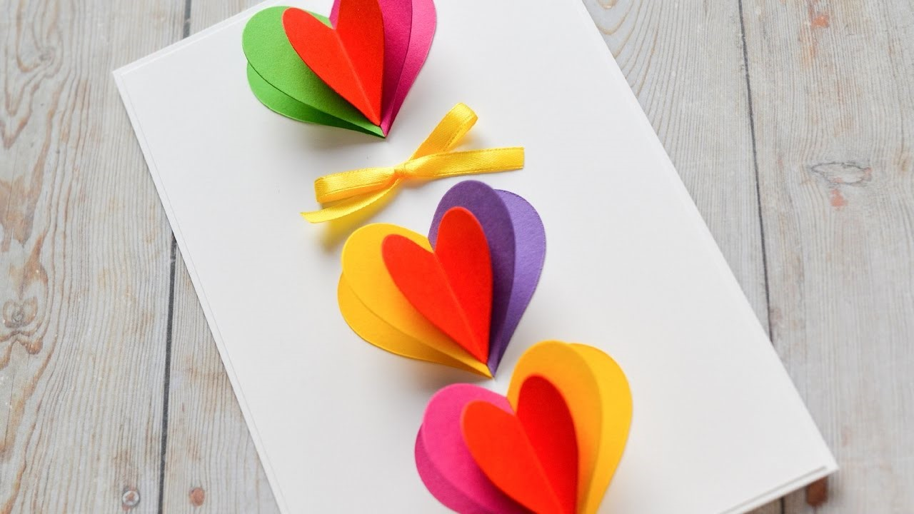 Carte 3D multicolore.