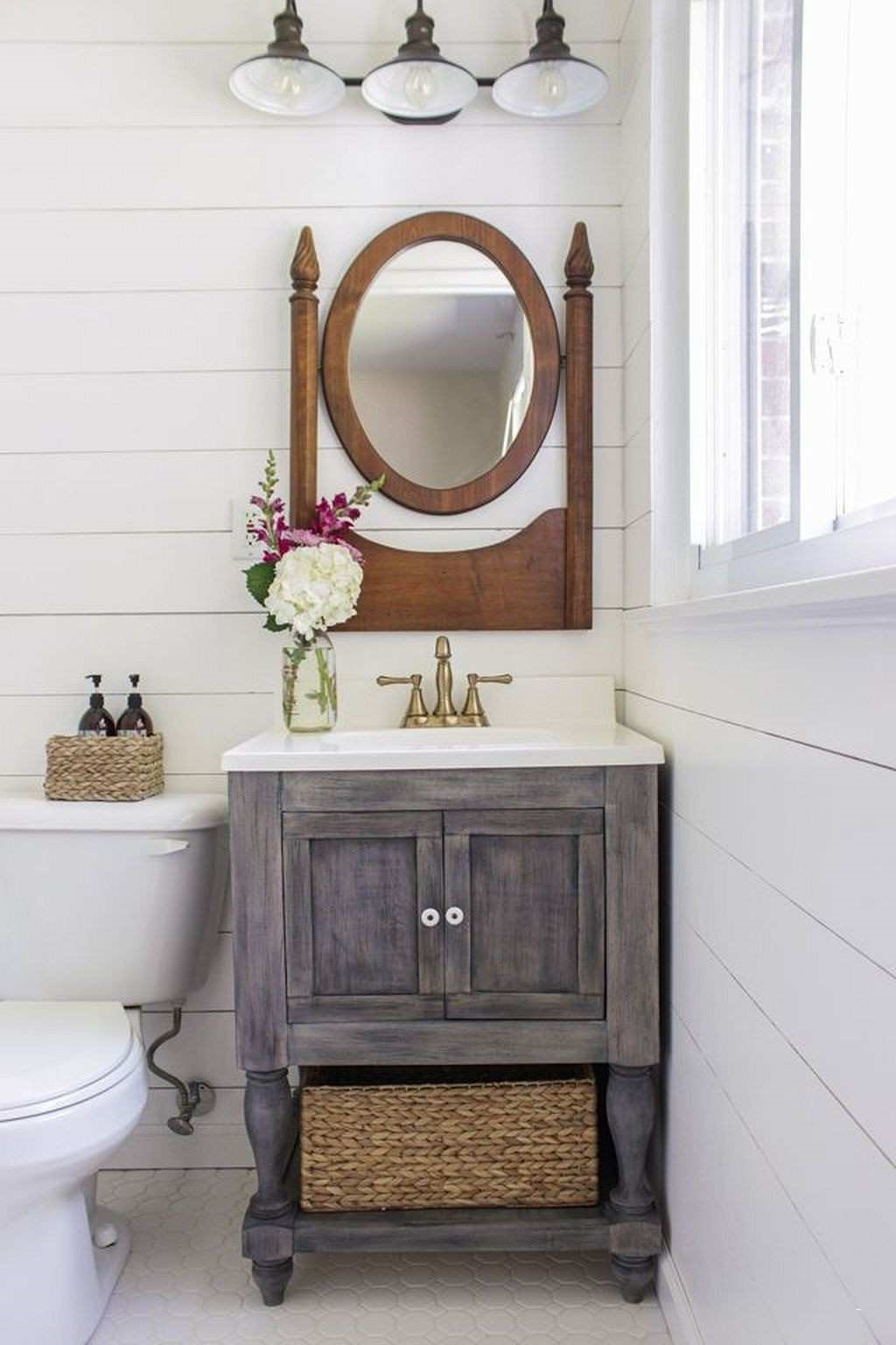 Make a piece of furniture for the bathroom.