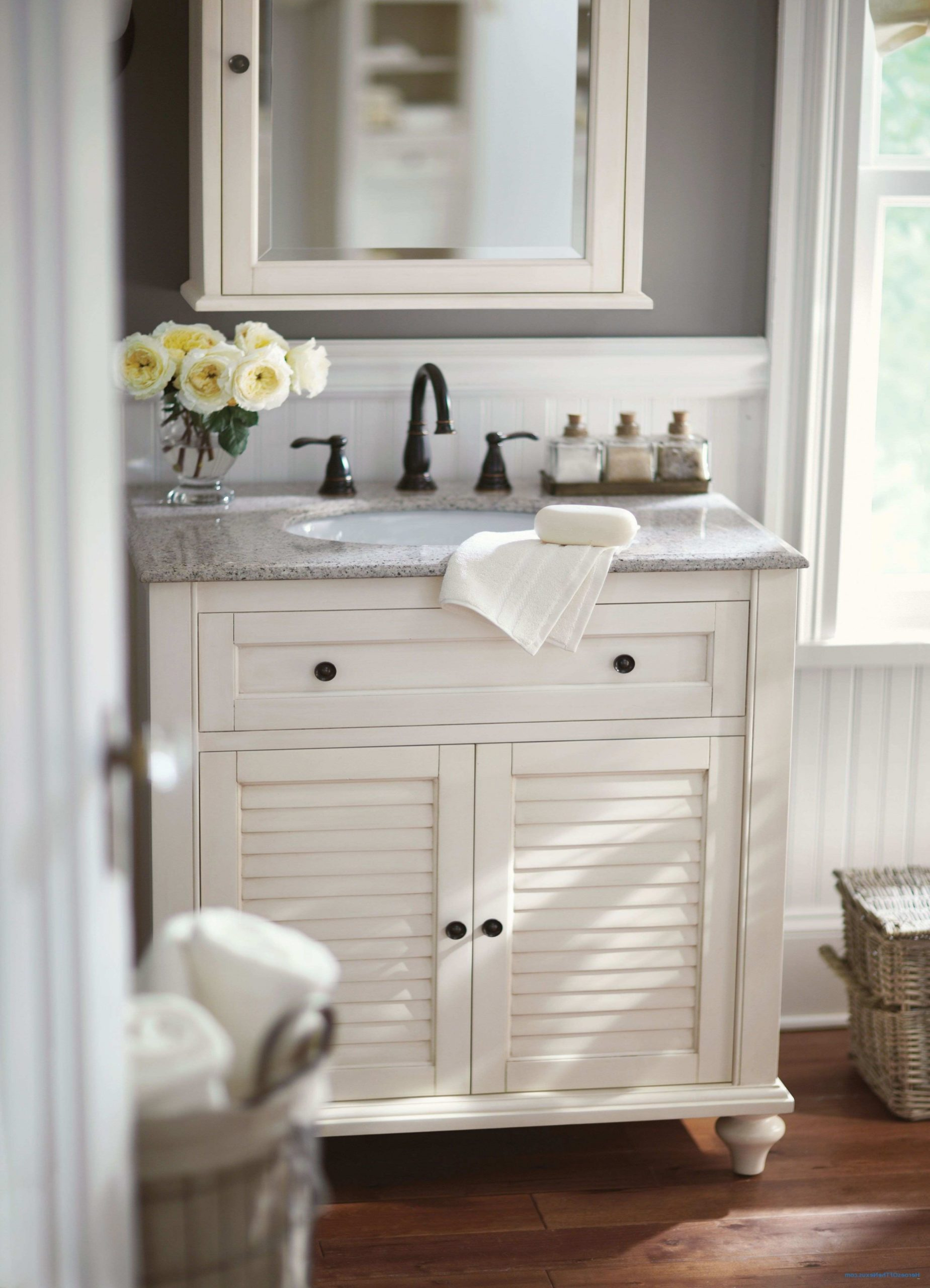 Turn an old dresser into a vanity in a few simple steps.