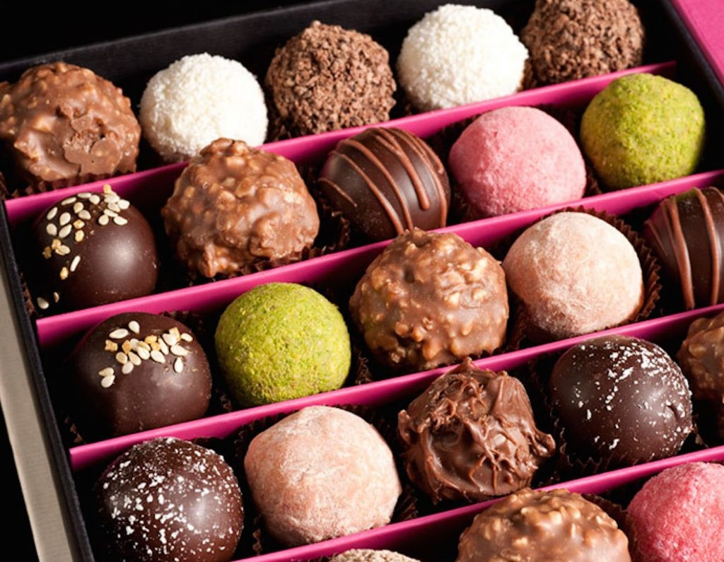 Idées de cadeau Saint Valentin pour homme - chocolat.