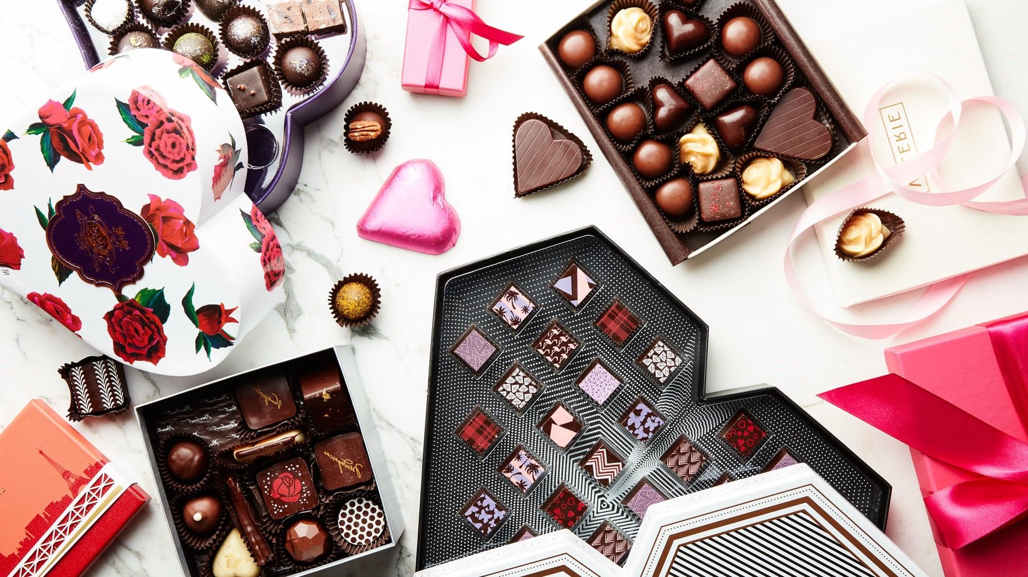 Cadeau original pour la Saint Valentin pour homme: boîte de chocolat de qualité.