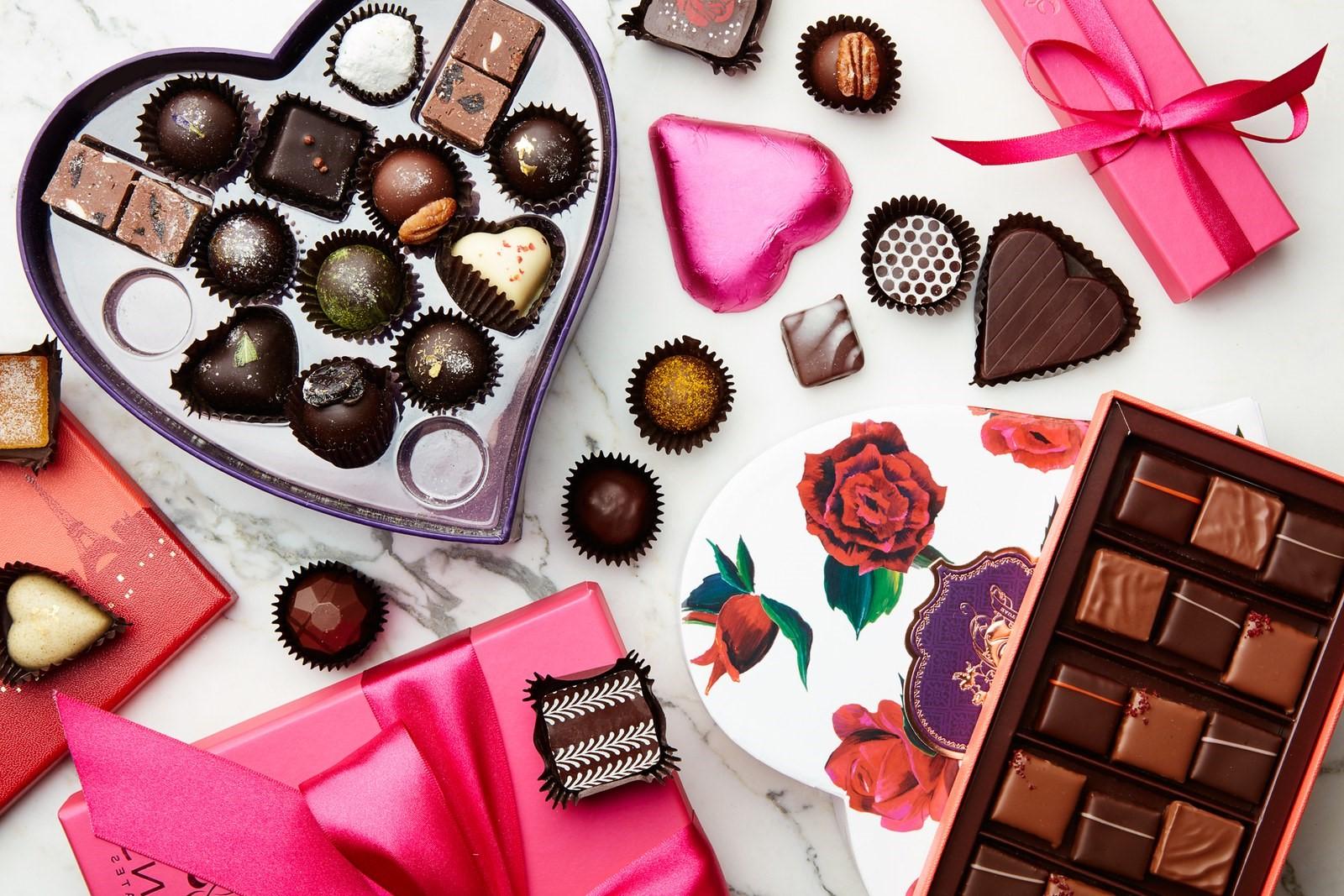 Idées de cadeau Saint Valentin pour homme: chocolat.