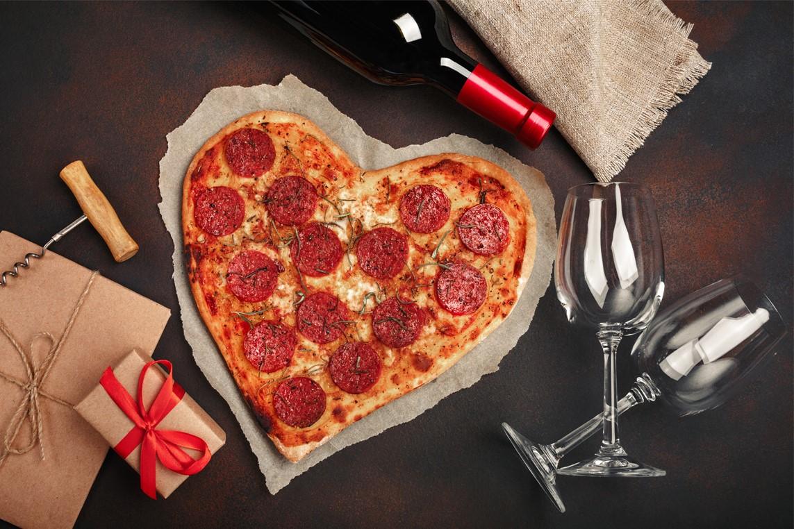 Pizza romantique.