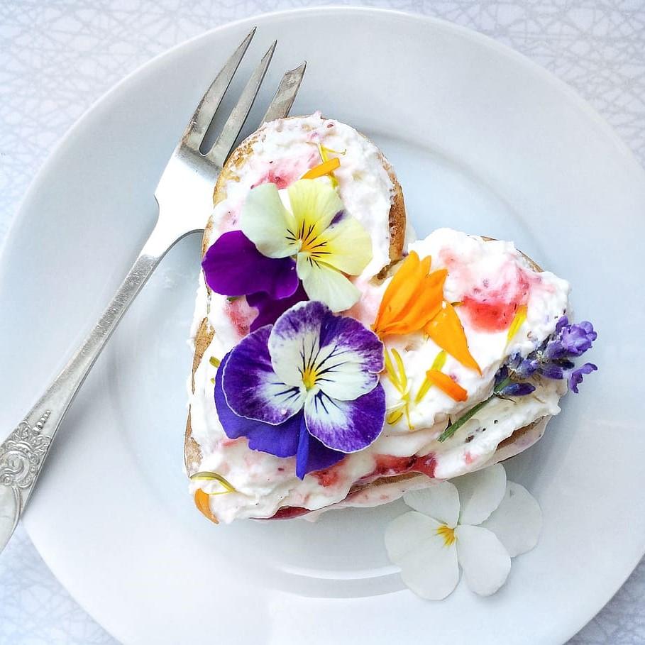 Dessert romantique.