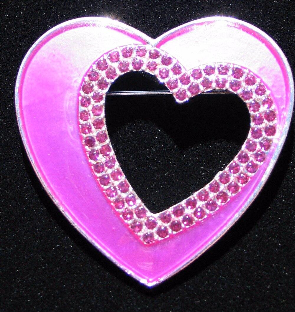 La broche en forme de coeur Bijoux Saint Valentin