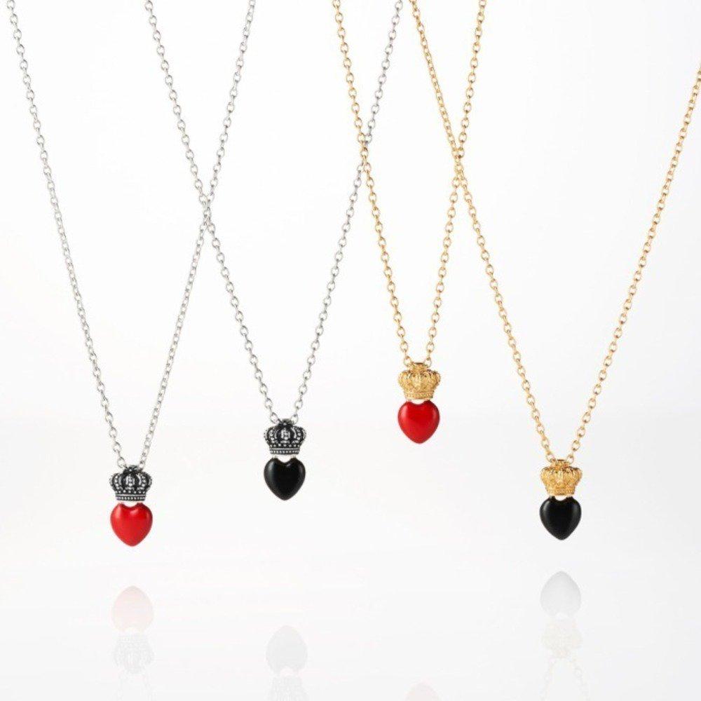 Les colliers en noir et rouge Bijoux Saint Valentin