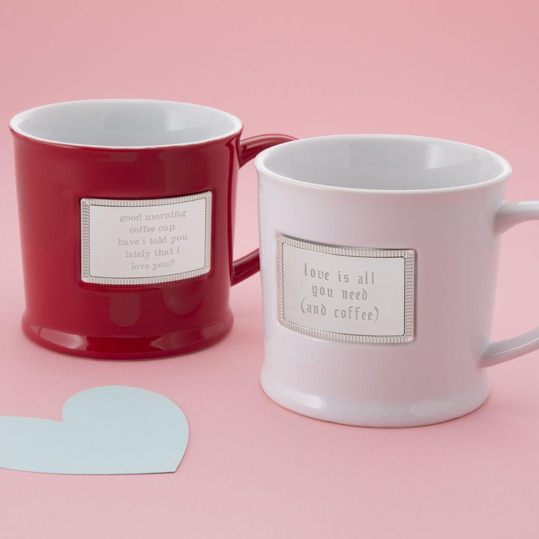 Tasse avec un message romantique.