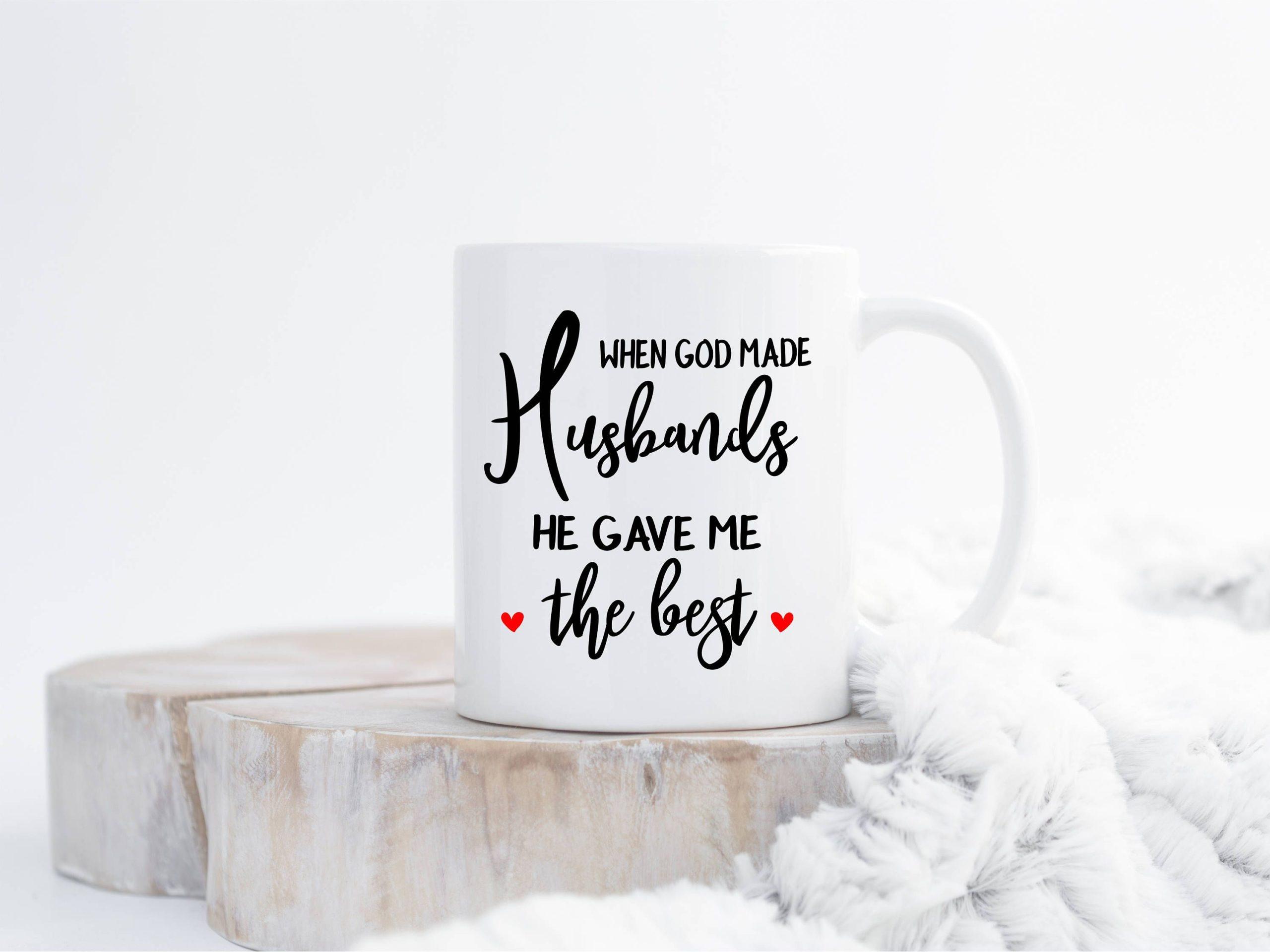 Mug romantique pour la fête des amoureux.