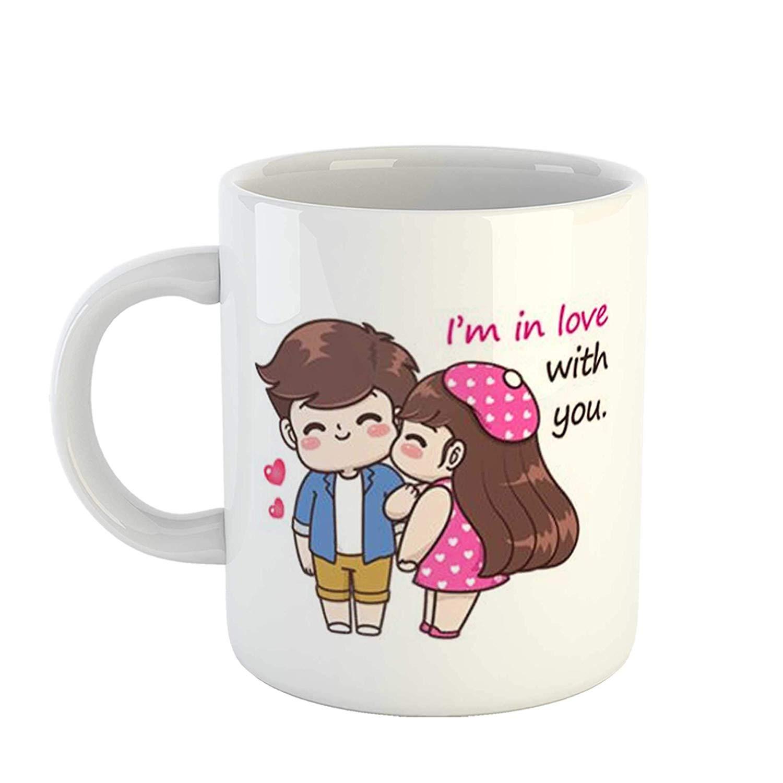 Tasse romantique pour la fête des amoureux.
